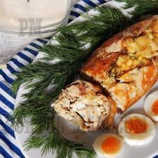 Запеченная рыба с нежной и сочной начинкой